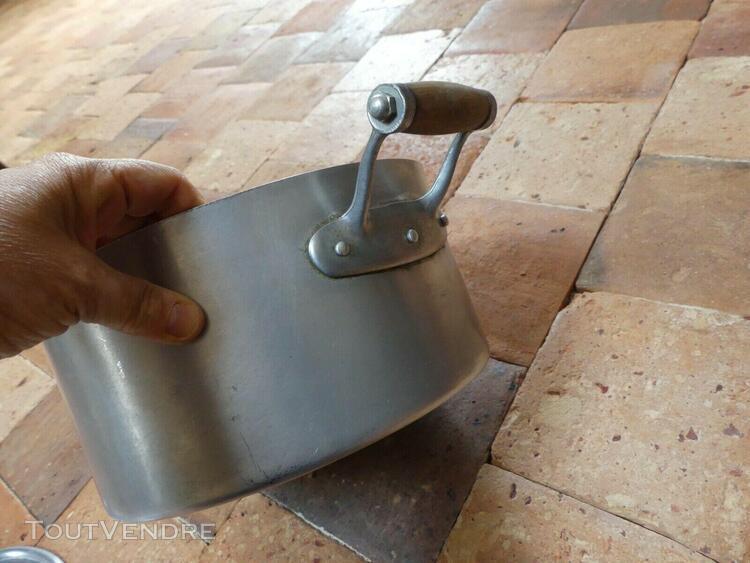 Ancien faitout marmite aluminium poignée bois ø24 cm ar