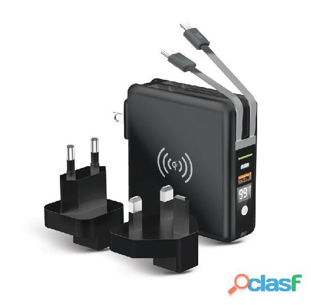 Chargeur multifonctions 5en1 avec powerbank 10000 mAh