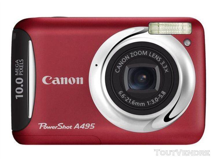 Appareil photo compact canon powershot a495 rouge compact -