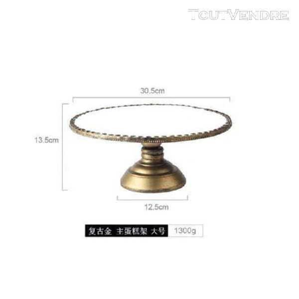 Décoration de table à dessert vintage en or,miroir en
