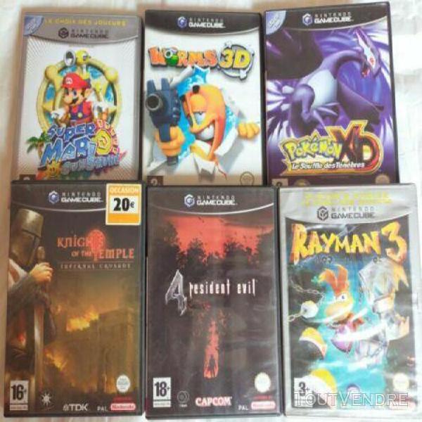 Lot boîtiers jeux vidéos nintendo game cube