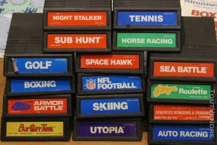 Non testé: lot de 16 cartouches de jeux video mattel intell