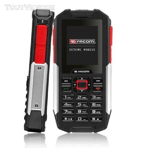 Téléphone portable outdoor 2 pouces facom f100 noir, rouge