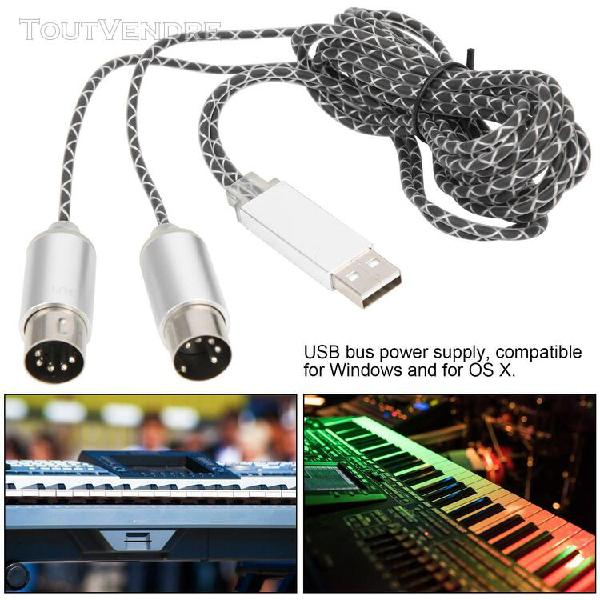 Cable midi 70.9in vers cable de convertisseur usb in-out ave