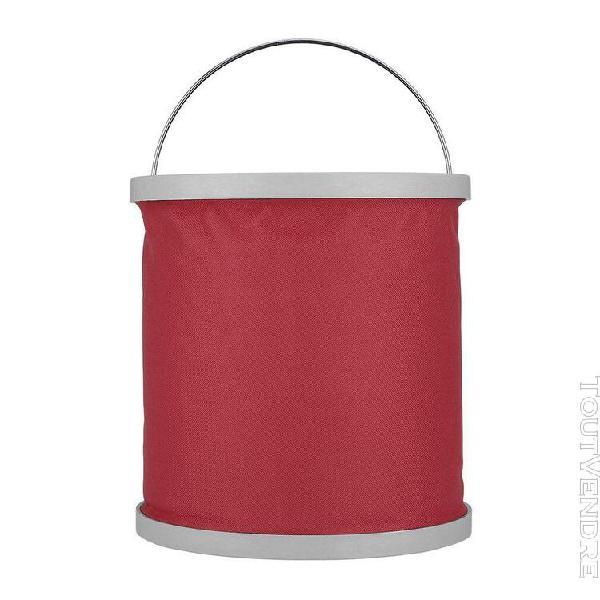 Le godet de pliage portable 11l elle chargée rouge-attirez