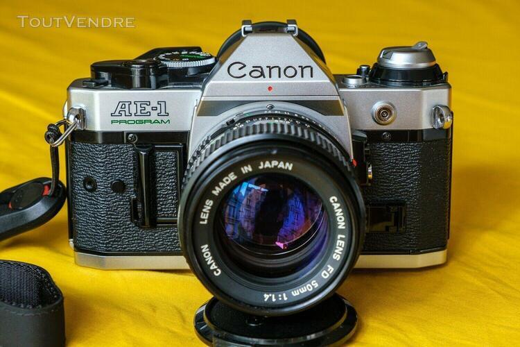 Canon ae1 program + objectif fd 50mm f1.4 + dragonne peak de