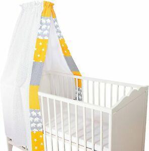 Ciel de lit pour bébé ullenboom ® éléphant jaune
