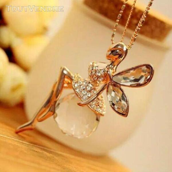 Collier avec pendentif féerique papillon pour femmes