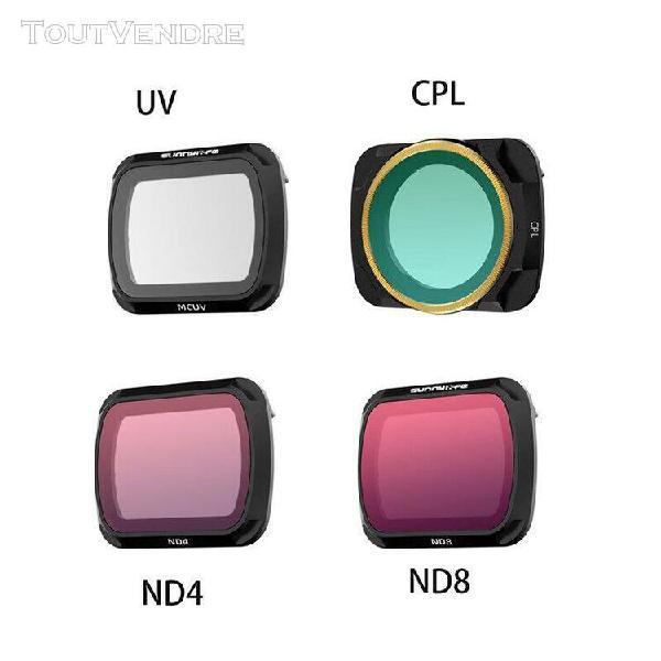 Filtre d'objectif mcuv cpl nd/pl, kit de filtres nd 4 816 32