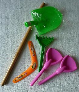 Jeux de plein air jouets enfant pêle rateau boomerang neuf