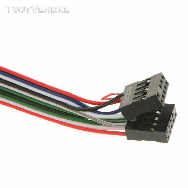 Panneau avant port audio usb micro écouteurs câbles