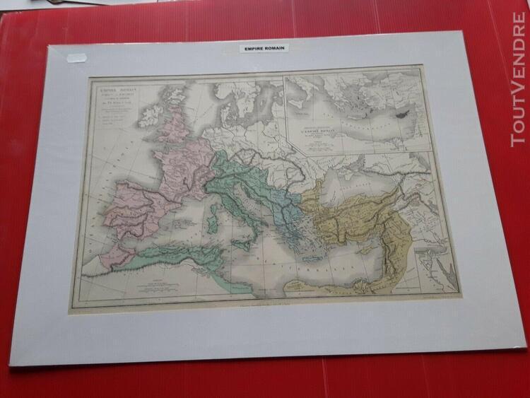 Carte ancienne de l' empire romain par drioux
