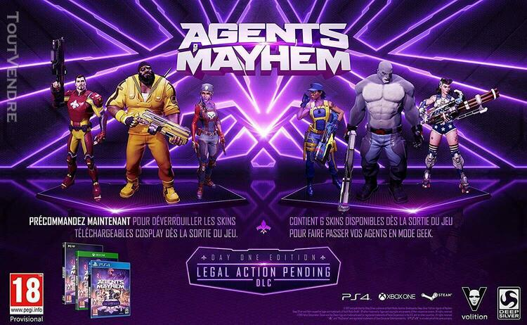 Agents mayhem - jeu ps4 -tres bon etat - livraison+suivi