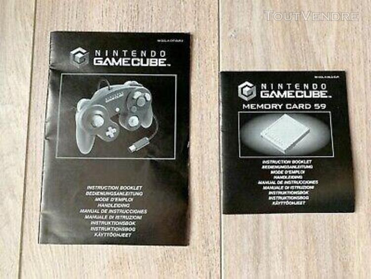 Lot de 2 notices game cube manette et carte mémoire 59 pal