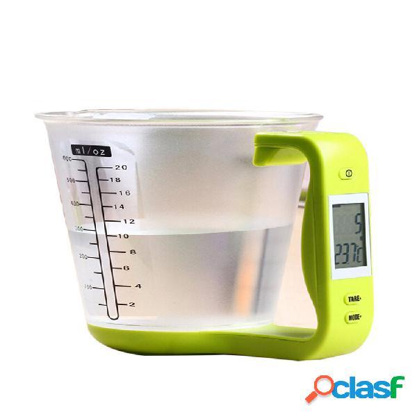 Coupe numérique balances de cuisine outil de mesure électronique mesure de température manteaux à vaisselle