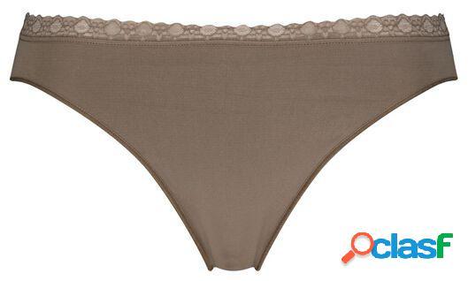 Hema slip sans coutures femme marron moyen (marron moyen)