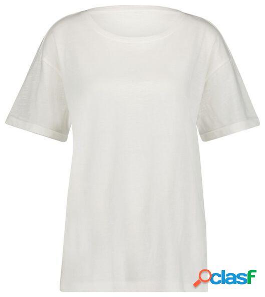 Hema t-shirt femme blanc (blanc)