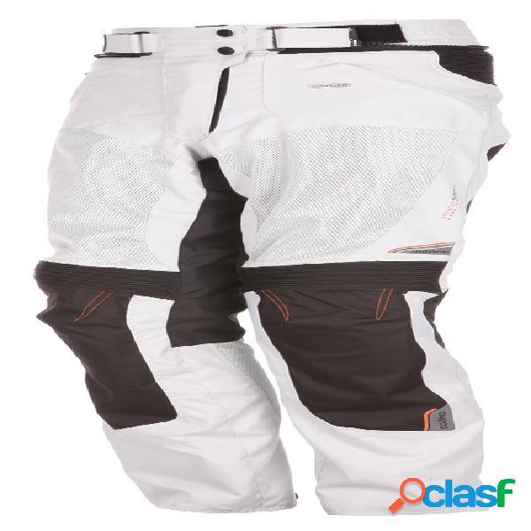 Modeka upswing lady pants, pantalon moto en textile ventilé femmes, gris clair