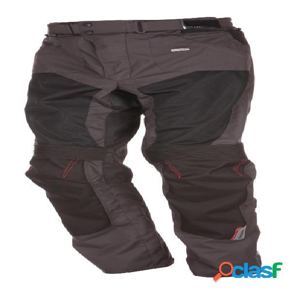 Modeka upswing pants, pantalon moto en textile ventilé hommes, noir-gris foncé