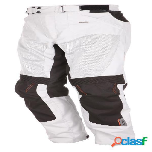 Modeka upswing pants, pantalon moto en textile ventilé hommes, gris clair