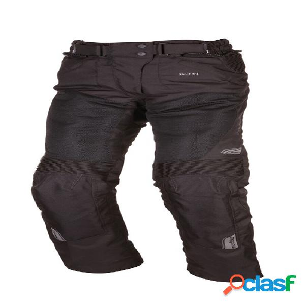 Modeka upswing lady pants, pantalon moto en textile ventilé femmes, noir