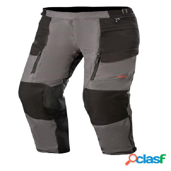 Alpinestars valparaiso v3 drystar pants, pantalon moto en textile hommes, gris foncé-noir