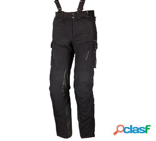 Modeka viper lt lady pants, pantalon moto en textile femmes, noir taille courte