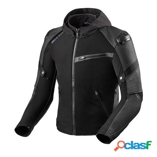 Rev'it! target h2o, veste moto textile hommes, noir