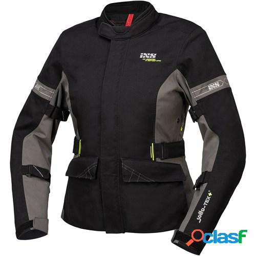 Ixs tour laminate-st-plus jacket lady, veste moto textile femmes, noir gris