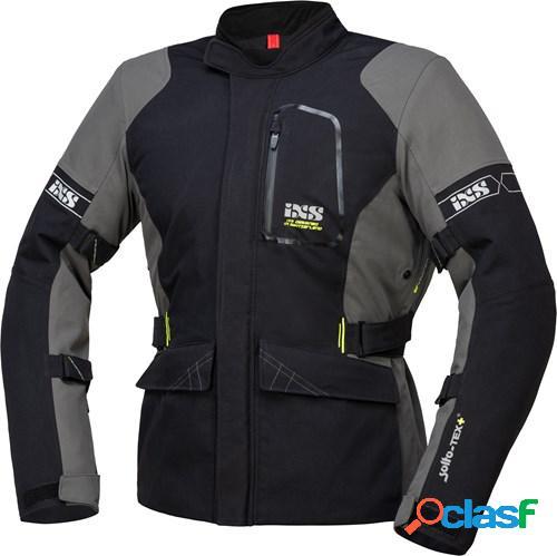 Ixs tour laminate-st-plus jacket, veste moto textile hommes, noir gris