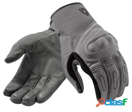 Rev'it! cassini h2o, gants moto mi-saison, gris foncé