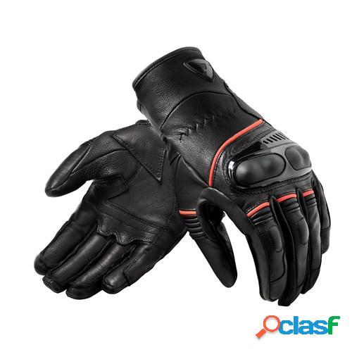 Rev'it! hyperion h2o, gants moto de compétition, noir rouge fluo