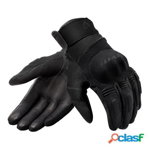 Rev'it! mosca h2o, gants moto mi-saison, noir