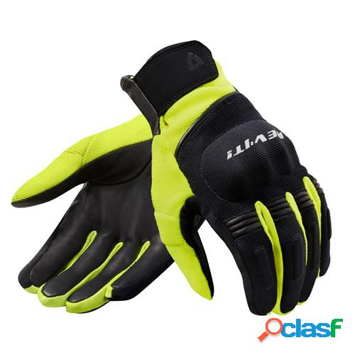 Rev'it! mosca h2o, gants moto mi-saison, noir jaune fluo