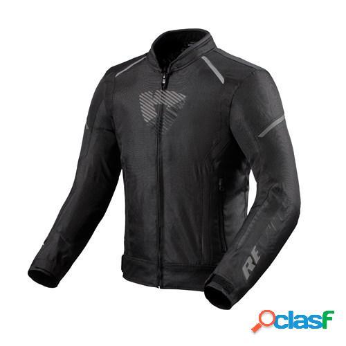 Rev'it! sprint h2o, veste moto textile hommes, noir anthracite
