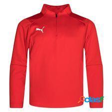 Puma maillot d'entraînement liga fermeture éclair 1/4 - rouge/blanc enfant