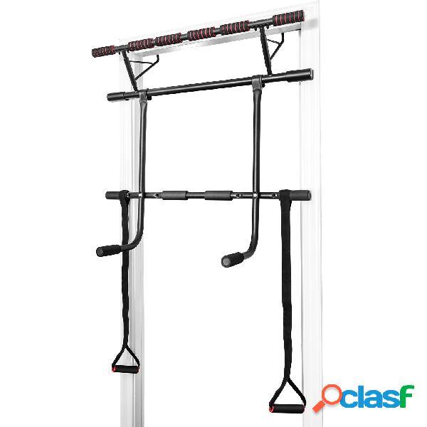 Costway set de barre de traction mural barre de fitness pour exercices pull up fixation sans vis jusqu'à 200kg 100 5 x 32 5 x 78 cm
