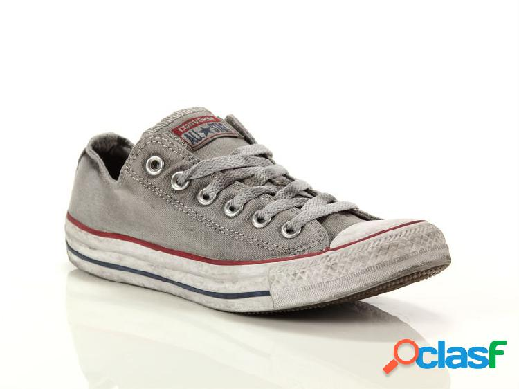 Converse chuck taylor all star ox canvas ltd optical white smoke in, 36, 37, 37½, 38 grigiogris