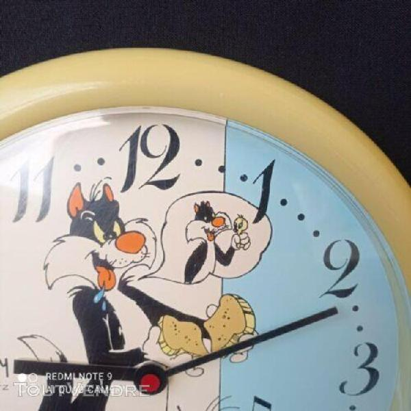 Horloge japy warner bros 1984 titi et grosminet vintage