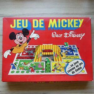 Mickey jeu petits chevaux jouets jeux anciens vintage rare