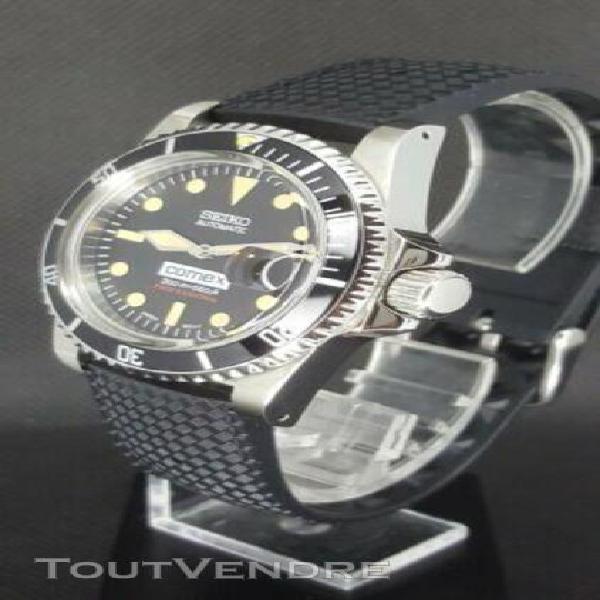 seiko mod submariner diver vintage comex 1680 5514 sub skx a
