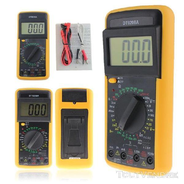 Multimètre numérique dt 9208a volt amp ohm hz ac/dc,