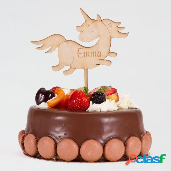 Cake topper communion licorne