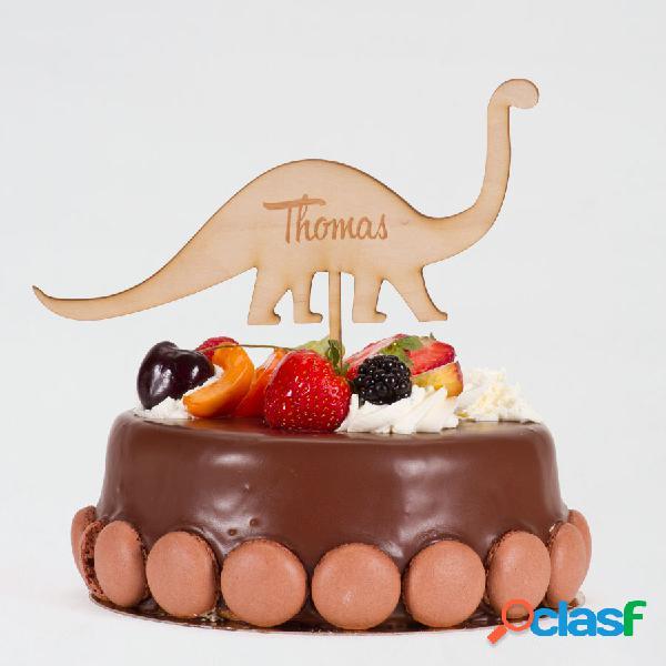 Cake topper communion dinosaure