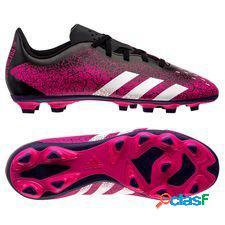 Adidas predator freak.4 fg/ag superspectral - rose/blanc/noir enfant