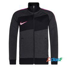 Nike track veste i96 academy - gris/gris/rose enfant