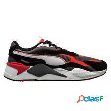 Puma chaussures rs-x3 twill airmesh - gris foncé/rouge
