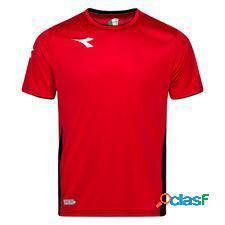 Diadora t-shirt d'entraînement equipo - rouge/blanc/noir enfant