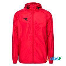 Diadora veste de pluie equipo pro - rouge/noir