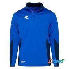Diadora maillot d'entraînement equipo 1/2 zip - bleu/noir/blanc